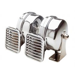 "<span class=""tooltip"">Horn compact 12V double Low/high<br/>pitch 112dB Type TN L160xB79xH90 mm<br/>(Made of chrome plated ABS & SS... 								<span class=""tooltiptext""> 									Horn compact 12V double Low/high pitch 112dB Type TN L160xB79xH90 mm