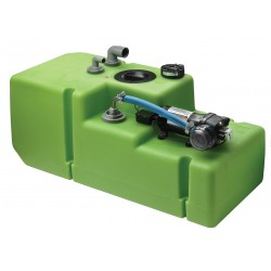 Tank fresh water system 61L 12V<br/>(includes plastic tank fitted with<br/>pump & fittings)