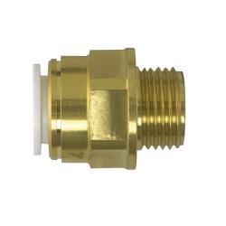 "Coupler male 15 mm x 1/2"" BSPT<br/>Brass<br/>"