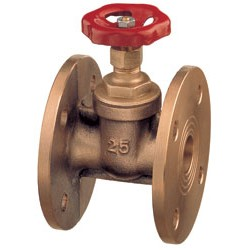 Flanged gate valve PN16 bronze Art. 1660