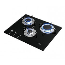 "Cooker Gas ""Crystal"" 1 Aux 1 semi &<br/>1 rapid burner Horizontal switch<br/>"