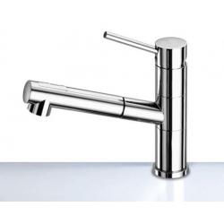 Shower pull out mixer chrome<br/>swivelling spout (switch from full<br/>flow to spray) with 1.5m hose