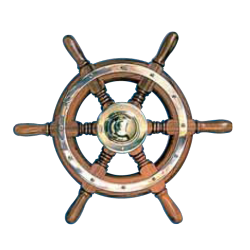 Type 01, 6 spoke teak steering wheel
