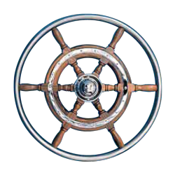 Type 03, 6 spoke teak steering wheel with SS rim