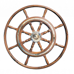 Type 07, 8 spoke teak steering wheel with teak rim