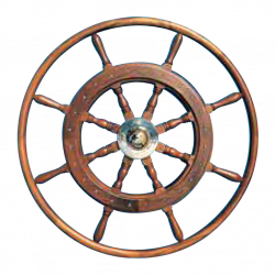 Type 08, 8 spoke teak steering wheel with teak rim