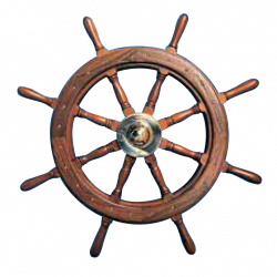 Type 10, 8 spoke teak steering wheel