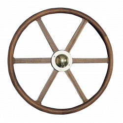 Type 19 Yacht steering wheel of teak wood