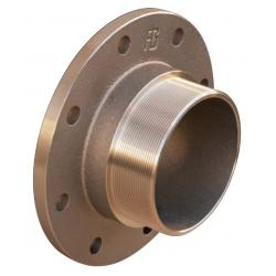 PN6 flange with male thread - bronze