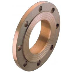 PN6 flange with female thread - bronze