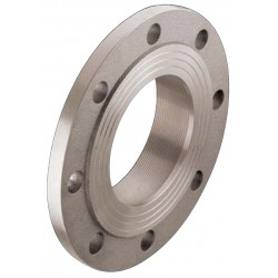 PN6 flange with female thread nickel plated brass