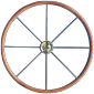 Type 13 sailing yacht steering wheel of SS with teak ring
