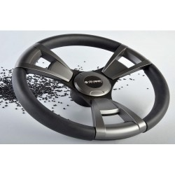 Steering Wheel 013 Dia.350 black<br/>soft rim & spokes including<br/>Aluminium keyed hub