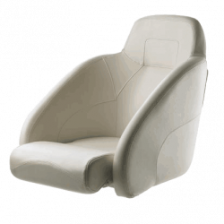 Seat helm KING CHFUSW flip-up squab<br/>with White artificial leather<br/>upholstery