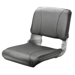 Seat deluxe CREW CHCG moulded with<br/>foldable back & Grey artificial<br/>leather upholstery