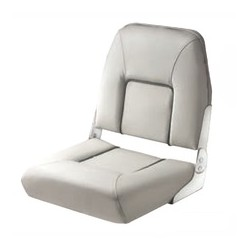 Seat deluxe FIRST MATE CHFSL<br/>foldable light Grey with dark Grey<br/>seam artificial leather upholstery