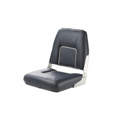 Seat deluxe FIRST MATE CHFSB<br/>foldable Blue with White seam<br/>artificial leather upholstery