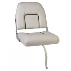 Seat deluxe FIRST MATE CHFSW<br/>foldable White with Blue seam<br/>artificial leather upholstery