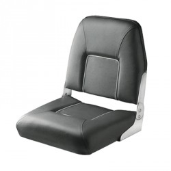 Seat deluxe FIRST MATE CHFSD<br/>foldable dark Grey with light Grey<br/>seam artificial leather upholstery