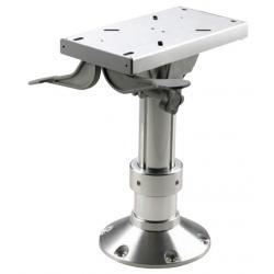 Gas adjustable pedestals with slide