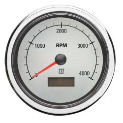 Gauge rpm/hour counter TACHWL white<br/>12/24V (0-4000 rpm) cut-out Dia.<br/>100 mm
