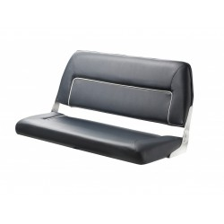 Seat deluxe FIRST CLASS DCHFSB<br/>foldable back with Blue with White<br/>seam artificial leather upholstery