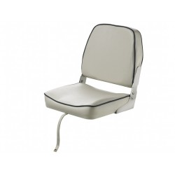 Seat classic FISHERMAN CHFSWW<br/>foldable White with Blue seam<br/>artificial leather upholstery