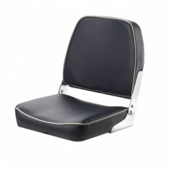 Seat classic FISHERMAN CHFSBW<br/>foldable Blue with white seam<br/>artificial leather upholstery
