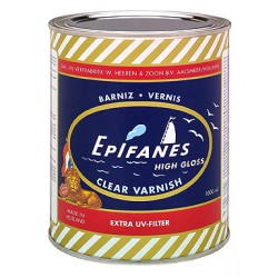 Clear varnish (one - component) contains extra UV filter