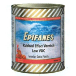 Rubbed effect varnish low VOC