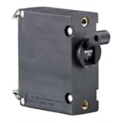 Magnetic single pole AC/DC circuit breakers