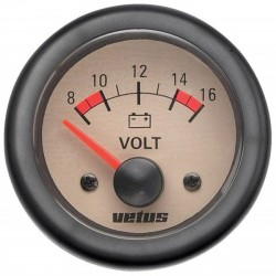 Voltmeter VOLT12W cream 12V<br/>(10-16V) cut-out Dia. 52 mm<br/>