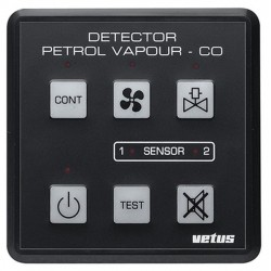 Detector PD1000 12/24V for petrol<br/>vapour & carbon monoxide includes<br/>sensor