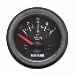 Gauge oil pressure OIL12B black 12V<br/>(0-8kg/cm2) cut-out Dia. 52 mm<br/>excluding sensor
