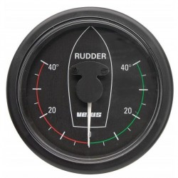 Gauge rudder position RPI1810B<br/>black 12/24V cut-out Dia. 107 mm<br/>excluding sensor