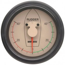 Gauge rudder position RPI1810W<br/>cream 12/24V cut-out Dia. 107 mm<br/>excluding sensor