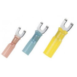 Adhesive lined heat shrink spade terminals
