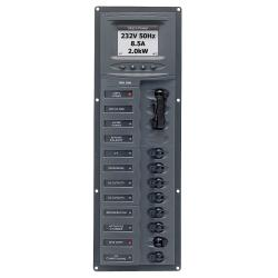 Panel 900-AC2V-ACSM 230V 2 input+ 8<br/>load vertical mount with<br/>digital meter