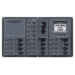 Panel 900-AC3-ACSM 230V 2 input+ 12<br/>load horizontal mount with<br/>digital meter