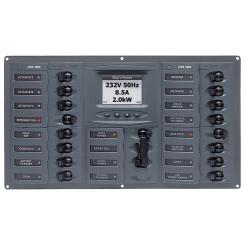 Panel 900-AC4-ACSM 230V 2 input+ 16<br/>load horizontal mount with<br/>digital meter