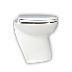 "Deluxe flush 17"" electric toilets"