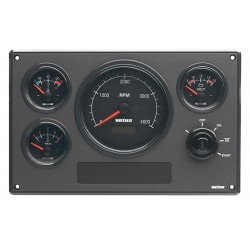 Panel engine instrument MP34BS12A<br/>black dial 12V<br/>