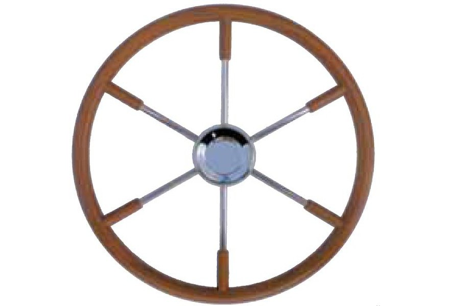 Ships Wheels on Pedestal 6 Spoke Diameter 70mm Model Boat Fittings