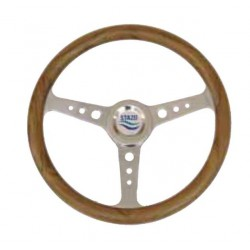 Steering Wheel type 56 Dia. 350 mm<br/>SS hub & spoke with teak rim<br/>