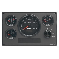 Engine instrument panels black & cream dial
