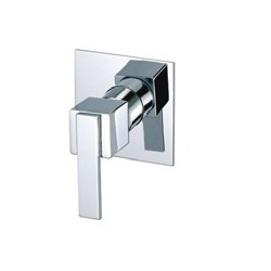 Minimalistic shower mixer for inset mounting