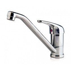 Mixer with swivel spout and aerator