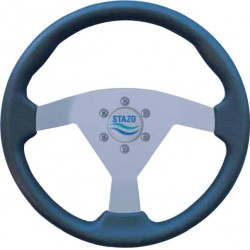 Steering Wheel type 60 Dia. 350 mm<br/>silver anodized centre with PU foam<br/>grip