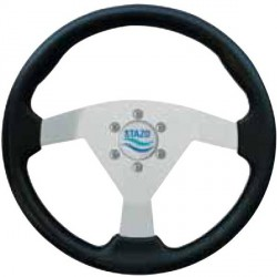 Steering Wheel type 61 Dia. 350 mm<br/>silver anodized centre with PU foam<br/>grip