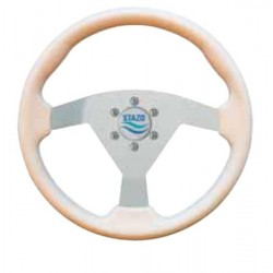 Steering Wheel type 62 Dia. 350 mm<br/>silver anodized centre with PU foam<br/>grip